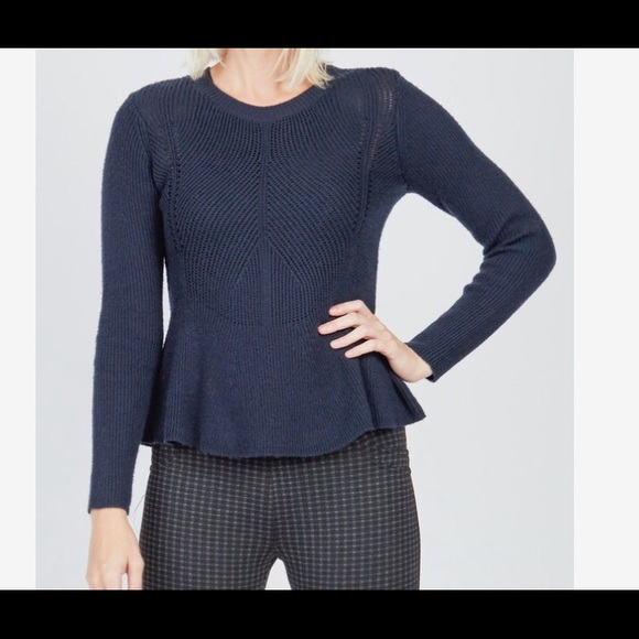 Cupcakes and Cashmere Pullover Peplum Sweater S NWT